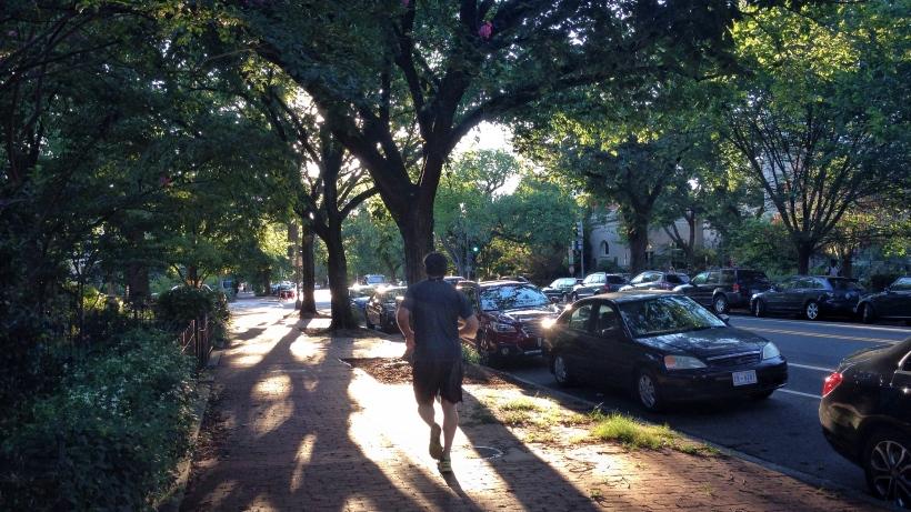 Runner on East Capitol Street
