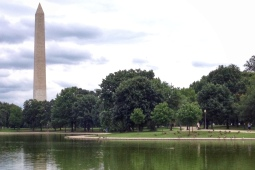Looking toward the Washington Monument from Constitution Gardens