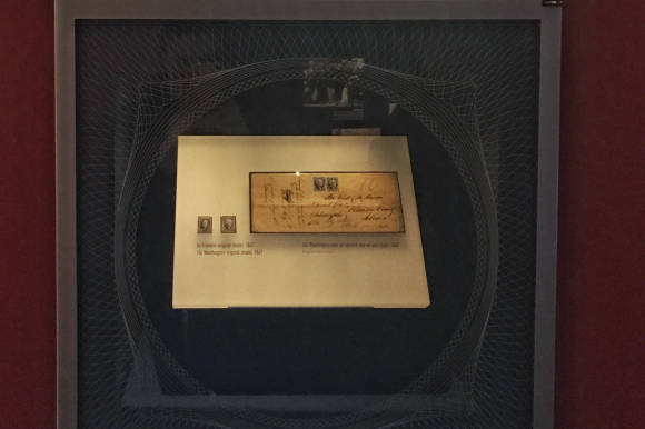 Display of America's First Stamps